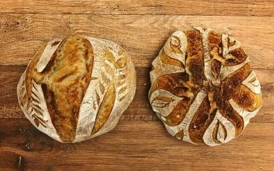 Receita de Pão Sourdough de fermentação natural (levain)