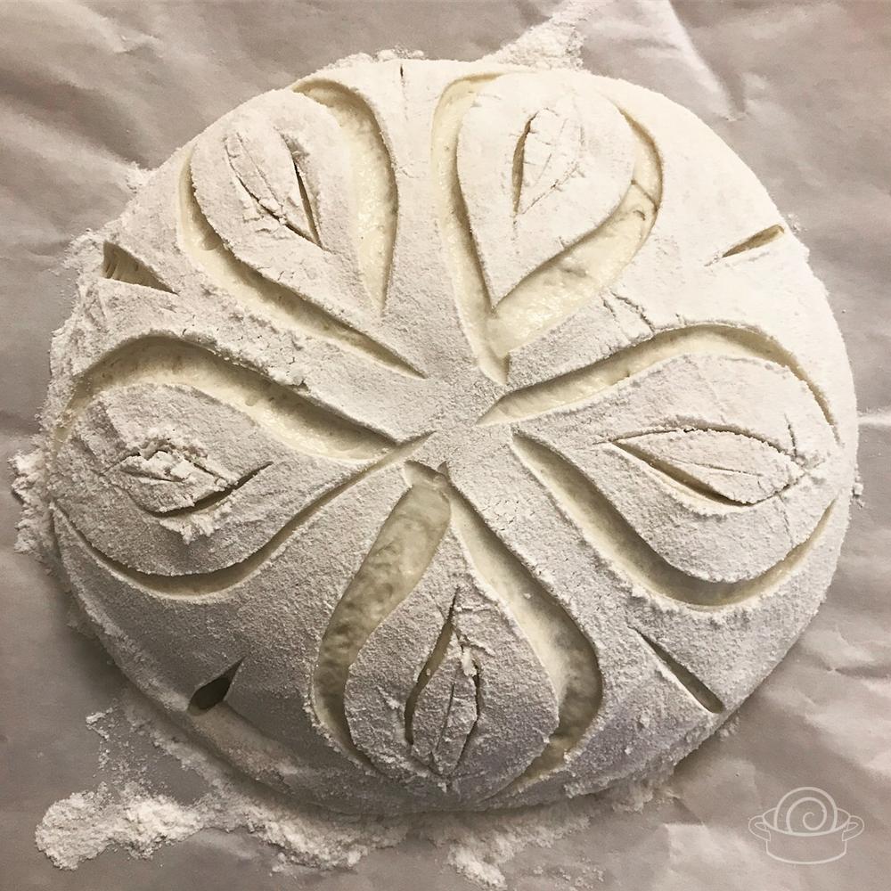 Pão italiano ou rústico de fermentação natural