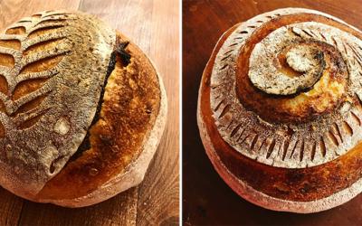 Pão sem sova de fermentação natural (no-knead bread)
